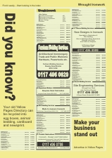 Yellow Pages Insert